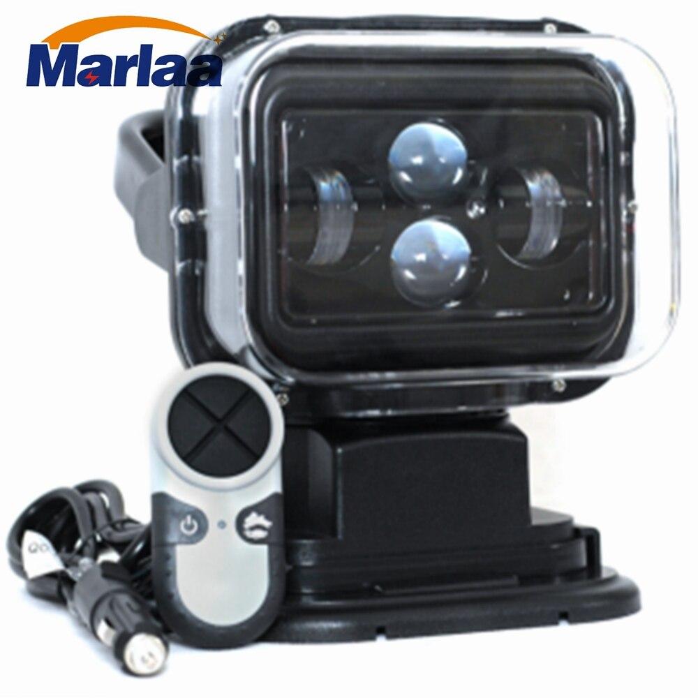 Marlaa 60 W DC 12 V LED Projecteur Sans Fil Télécommande Spotlight Base Magnétique pour Voiture Bateau Véhicules