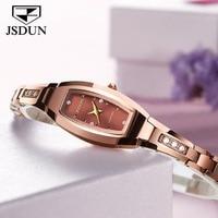 Luxury JSDUN Brand Rose Gold Watch Women Elegant Quartz Watches Tungsten Steel Strap 30 Waterproof Wrist watch Relogio Feminino