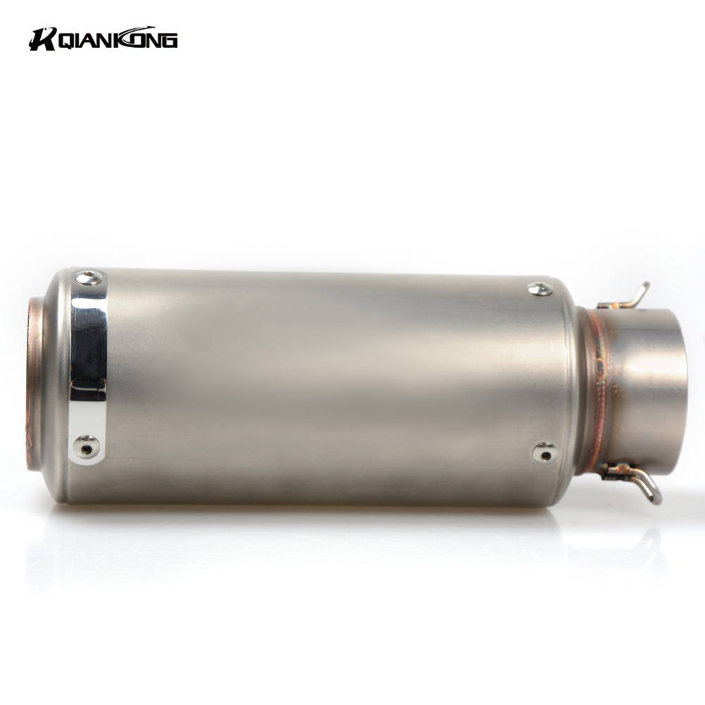 51 61MM Motorcycle Exhaust Pipe Scooter Modified 60mm exhaust Muffler pipe For Kawasaki ER6F ER6N ER 6N 6F VERSYS 1000 ZZR60