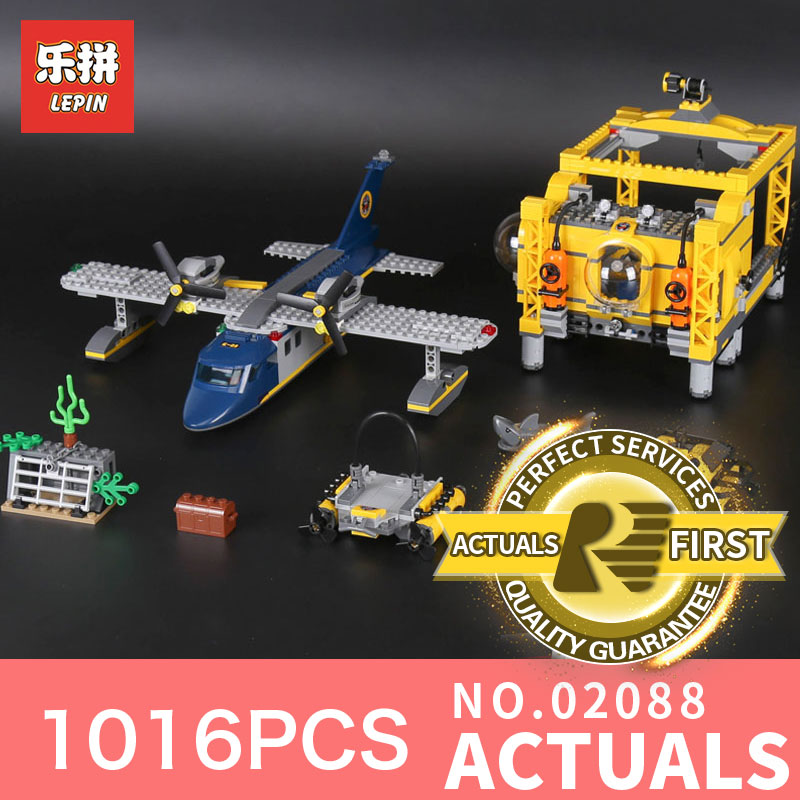 1016Pcs Lepin 02088 The Deep Sea Opearation Base Set LegoINGlys 60096 Genuine City Series Building Blocks Bricks For Children model building blocks toys 02088 deep sea opearation base compatible with lego city series 60096 educational diy toys