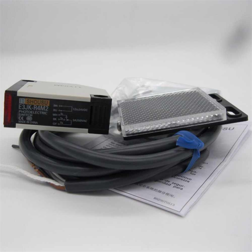 E3JK-R4M2 Новый фотоэлектрический датчик 12-24VDC 5 проводов высокого качества с отражательная пластина гарантия на один год