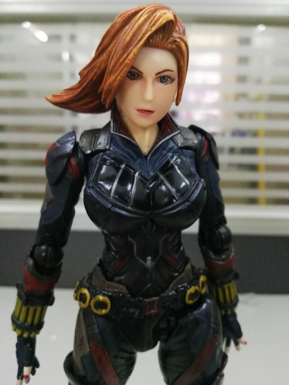 PlayArts KAI Age of Ultron Black Widow PA PVC Action Figure Collectible Model Toy with box playarts kai star wars stormtrooper pvc action figure collectible model toy
