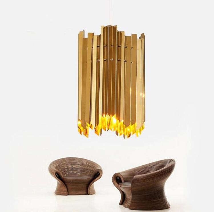 Modern Simple Designer hanglamp Stainless Steel Chandelier lighting Classical Bar Restaurant Hotel Deco hanging lamp