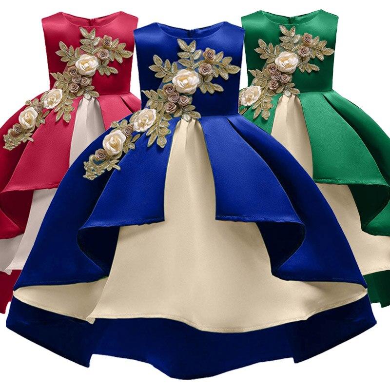 Elegante niños vestidos de fiesta para la boda de las niñas vestido de los niños carnaval Navidad vestido de año nuevo traje para niñas vestido de princesa