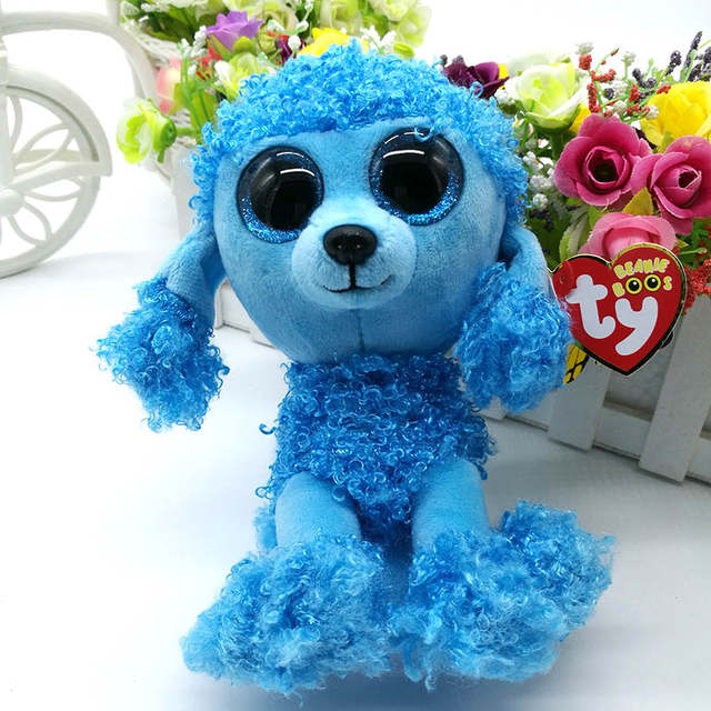 f4756ae4f12 Online Shop 15cm Ty Original Beanie Boos Mandy Poodle Plush Toy Soft Stuffed  Animal Doll Big Eye Kids Toy Cute Birthday Gift Hot