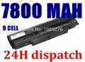 7800mAH laptop Battery For Samsung N100 N143 N145P N148 N150 N250 N260 AA-PB2VC3B AA-PB2VC3W AA-PB2VC6B AA-PL2VC6B AA-PL2VC6W