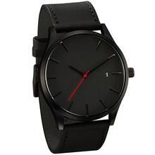 Часы наручные мужские кварцевые популярные низкие минималистичные