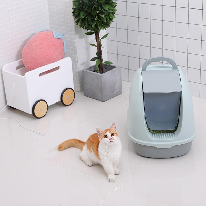 Cat Litter Basin Fully Enclosed Cat Toilet Extra Large Deodorant Anti Splashing Deodorant Cat Sand Table Cat Pot Pull Supplies #1