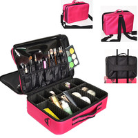 L Size Beautician Makeup Box Shoulder Professional Cosmetic Bag Cases Travel Organizer Necessary Toiletry Luggage Accessories