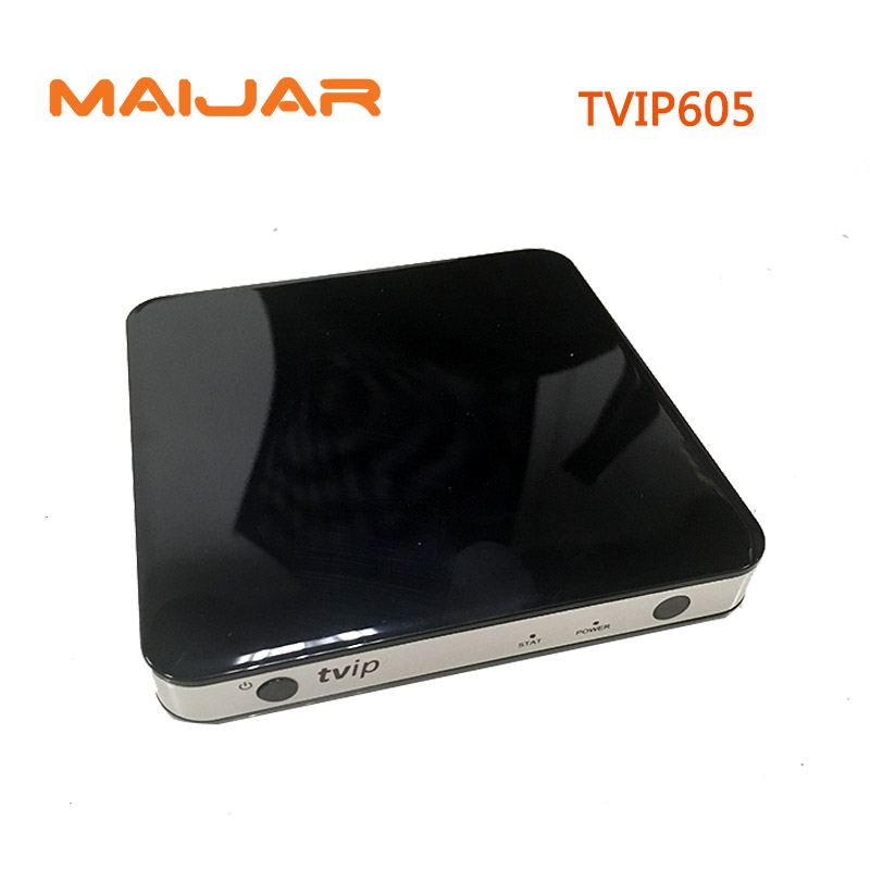10pcs TVIP 605 Smart TV Box Linux OS Support Quad Core TVIP605 Super Clear Double System Linux or Android OS Set Top Box linux system programming