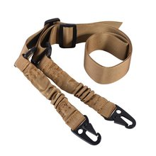 цена на Nylon Gun Strap Tactical Airsoft Mount Bungee System Kit Hunting Molle Adjustable Multi-function Two Point Tactical Rifle Sling