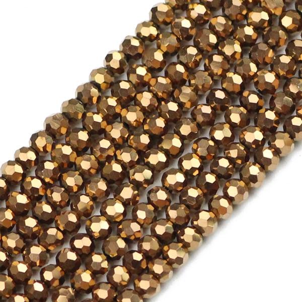 JHNBY, футбольные граненые Австрийские кристаллы, 200 шт, 3 мм, цветные круглые бусины, ювелирные изделия, браслет, аксессуары, сделай сам - Цвет: QZ3108 Copper