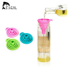 FHEAL Creative New Mini Silicone Gel Collapsible Style Funnel Hopper Kitchen Cooking Tools