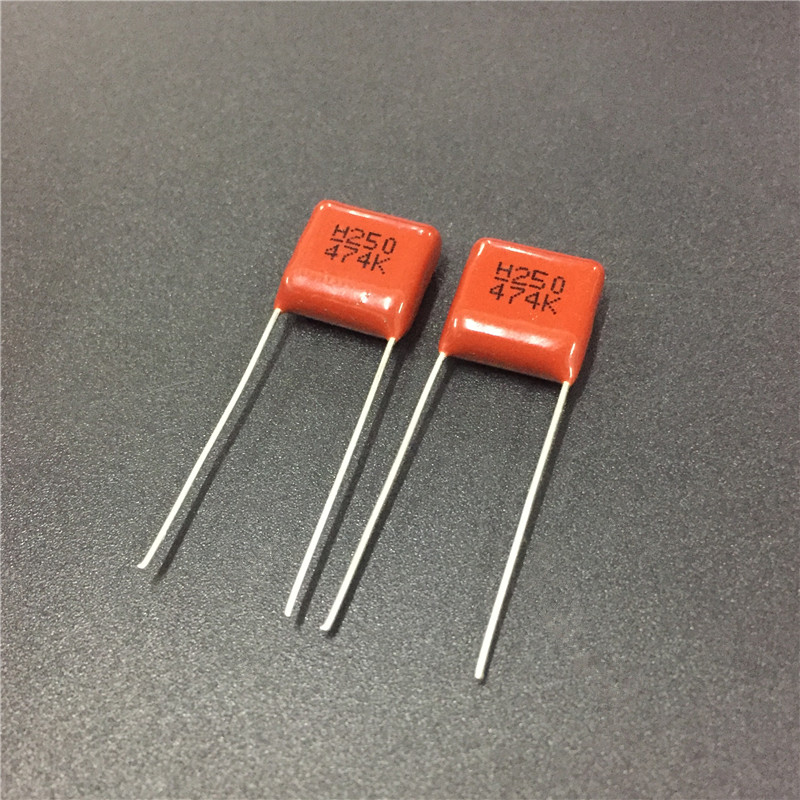 10pcs CBB Capacitor 474 250V 474K 0.47uF 470nF P10 CL21 Metallized Polypropylene Film Capacitor