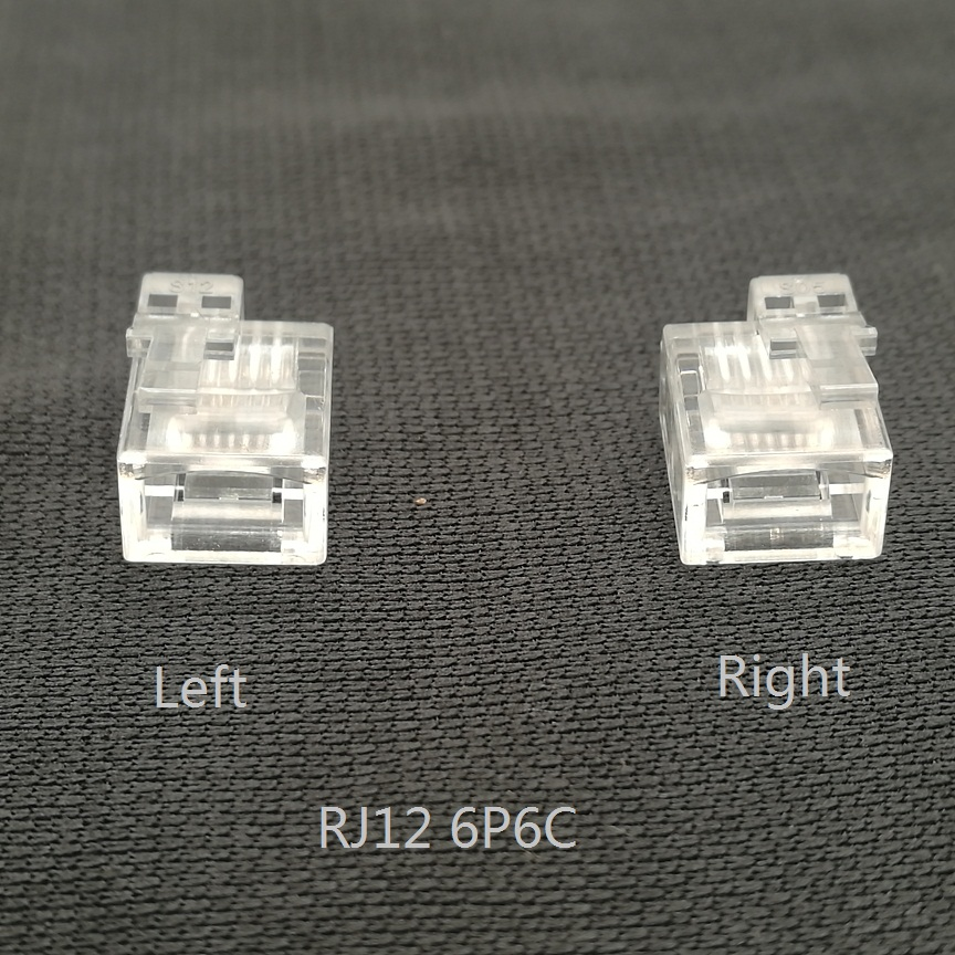 20PCS/lot R12 Connector 6P6C Right Buckle Left Buckle Cable Plug Cable Plug Crystal Head