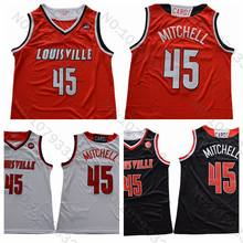 bcace0bcd44 2018 Louisville Cardinals  45 Donovan Mitchell Jersey Black Red White Donovan  Mitchell Basketball Jersey College Stitched Shirts