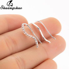Shuangshuo Cuff Ear Climbers for Women Studs Vintage Wave Earrings Ear Jackets Ear Climbers Jewelry Fashion Earing oorbellen(China)