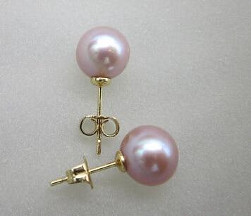 ry00499 real beautiful 10-11mm AAA Lavender Purple South Sea Pearl Earring 14KGP (A0425) цена