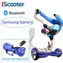 Samsung Battery Iscooter Hoverboard Bluetooth Electric Skateboard Steering-wheel Smart 2 Wheel Self Balance Standing Scooter цена