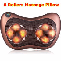 8 Heads Car Massage Pillow Electric Heating Kneading Shoulder Body Massager