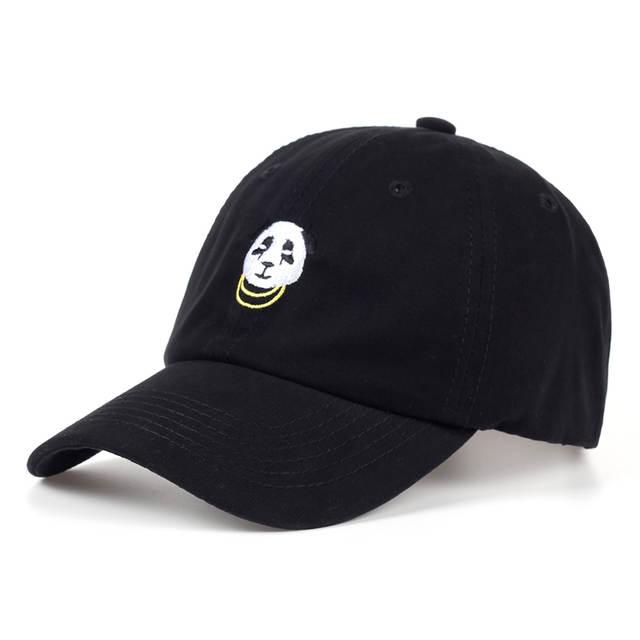 2a592a612e8 placeholder VORON 2017 new Panda Gold Chains Baseball Cap Curved Bill Dad Hat  men women 100%