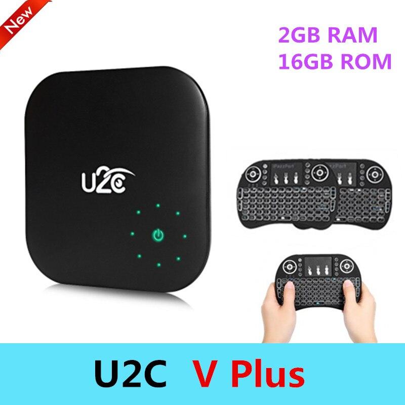 U2C V Plus Smart Android 7.1 TV Box 2G RAM+16G ROM Amlogic S912 Octa-core CPU 5G WiFi Bluetooth 4.1 Set Top Box 4K Media Player