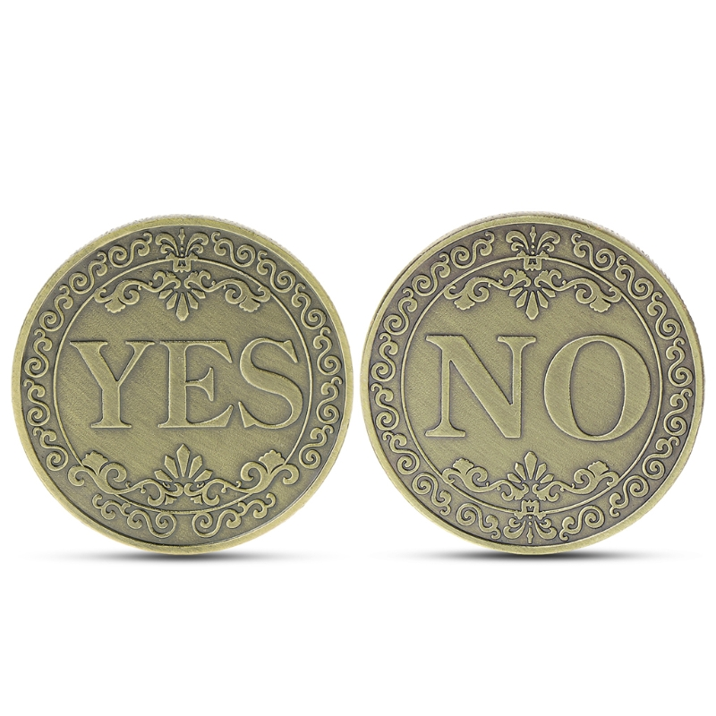 YES or NO Commemorative Coin Floral YES NO Letter Coin Classic Magic Tricks TOYS(China)