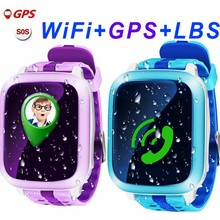 DS18 GPS Children Smart Watch DS18 GPS WiFi Locator Tracker Kid Wristwatch Waterproof SOS Call Smartwatch Child For IOS Android(China)