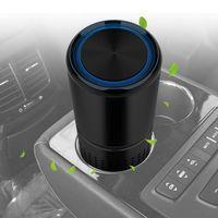 New Car Fresh Air Anion Car Air Cleaner Aromatherapy Air Purifier For Car Home Office Gray