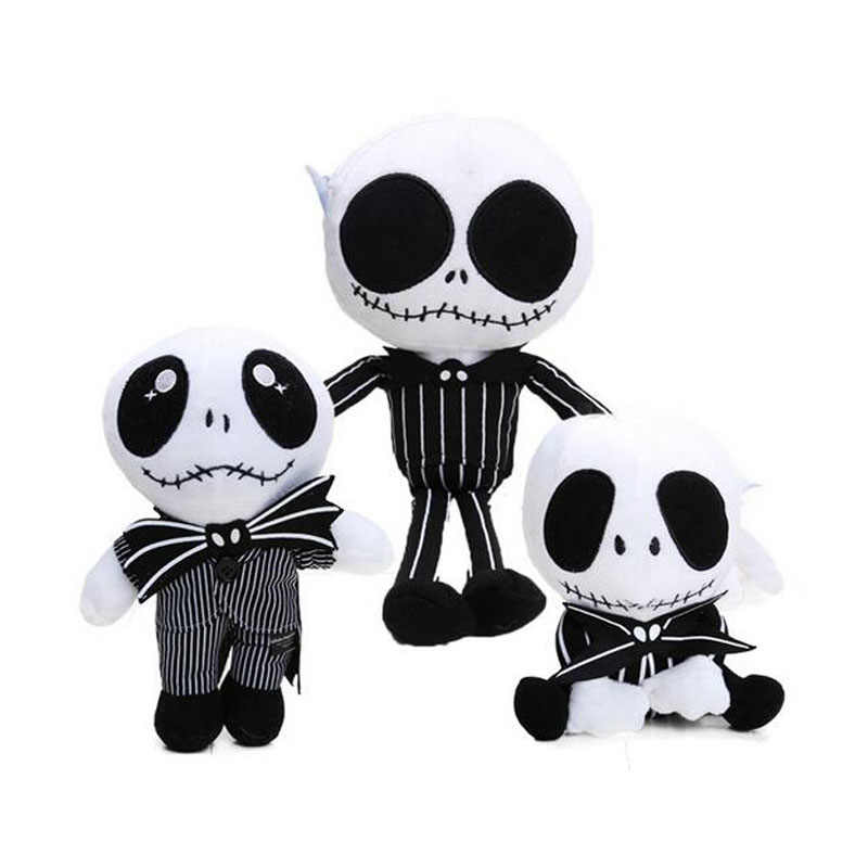 3 gaya The Nightmare Before Christmas JACK Plush Toy boneka 15-35 cm Lucu Tengkorak Jake Lembut Stuffed Animal boneka juguetes de peluche