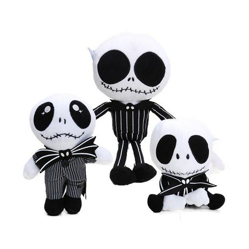 3styles The Nightmare Before Christmas JACK Plush Toy Doll 15-35cm Cute Skull Jake Soft Stuffed Animal Dolls Juguetes De Peluche