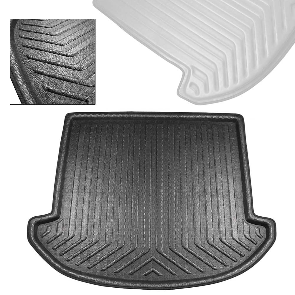 For Hyundai Santa Fe 7 Seats Rear Trunk Cargo Liner Boot Mat Floor Tray Carpet Mud Protector Cover 2013-2018 Auto Accessories