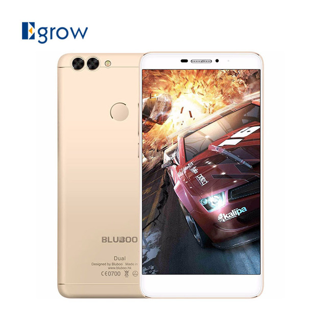 Original Bluboo Dual MTK6737T Quad Core 5.5 Inch 2G RAM 16G ROM 13.0MP+2.0MP Dual Back Camera Fingerprint Unlock Smartphone