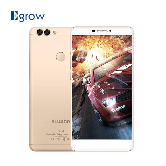 Original Bluboo Dual MTK6737T Quad Core 5.5 Inch 2G RAM 16G ROM 13.0MP+2.0MP Dual Back Camera Fingerprint Unlock Smartphone