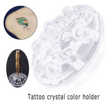 15 Holes Tattoo color frame eyebrow color frame tattoo crystal color material color cup paint rack tattoo crystal color material(China)