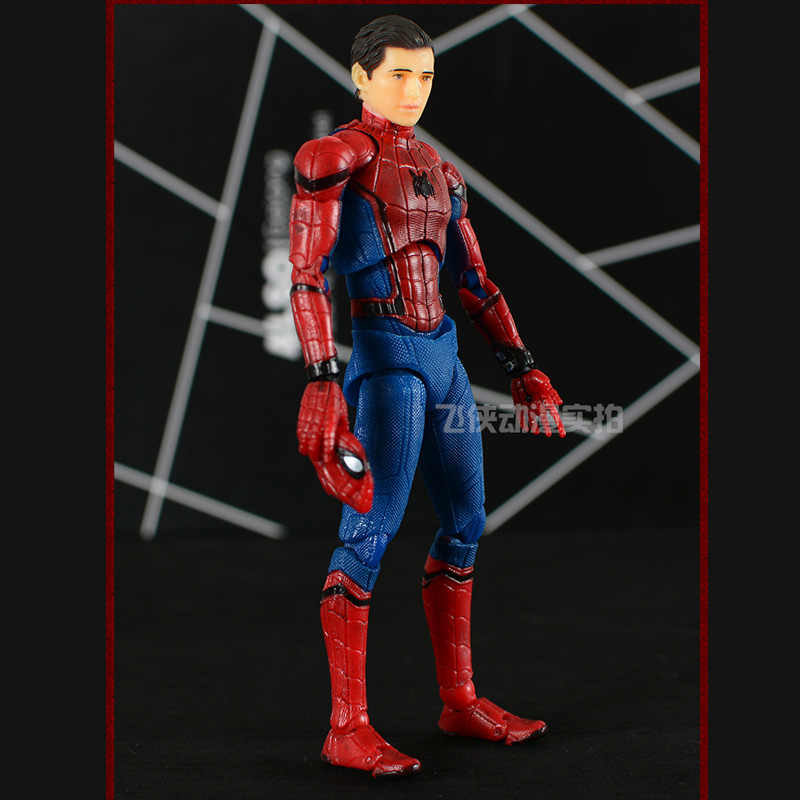 Homem Aranha Peter Parker MAF047 Regresso A Casa Ver. PVC Action Figure Collectible Modelo Toy 14cm