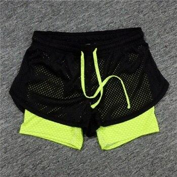 Été Double couche Shorts femmes Skinny Fitness Shorts femmes élastique décontracté Shorts femme Joggings moutones Cortos Mujer