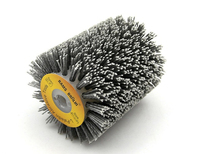 100*120*13mm Abrasives Wire Brush Wheel for 9741 Wheel Sander P80 P600 Wooden Furniture Polishing Grinding Tool