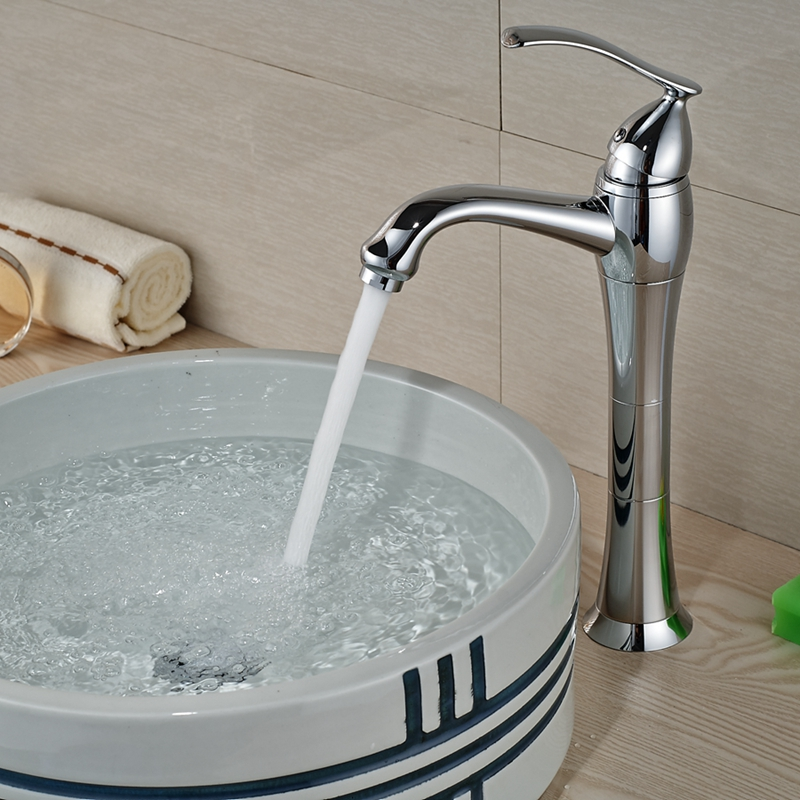 Wholesale And Retail Polished Chrome Countertop Bathroom Basin Faucet Single Handle Hole Vanity Sink Mixer Tap