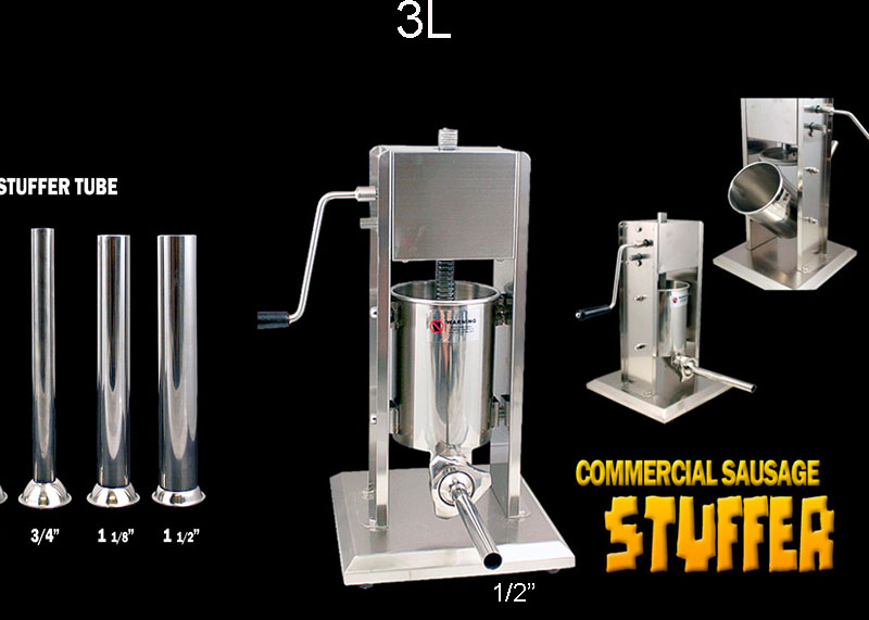 3L Commercial Manual Sausage Stuffer Two Speed Stainless Steel Meat Press Filler цены