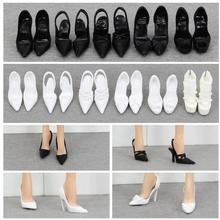 doll shoes pretty shoes fashion black white shoes high heel shoes for collection BB dolls BBI988