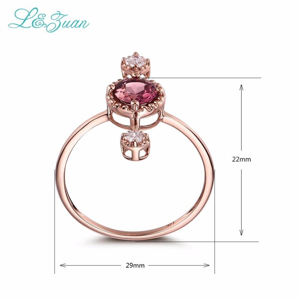 L & Zuan Diamond Бижута 14K Розово злато - Изящни бижута - Снимка 4