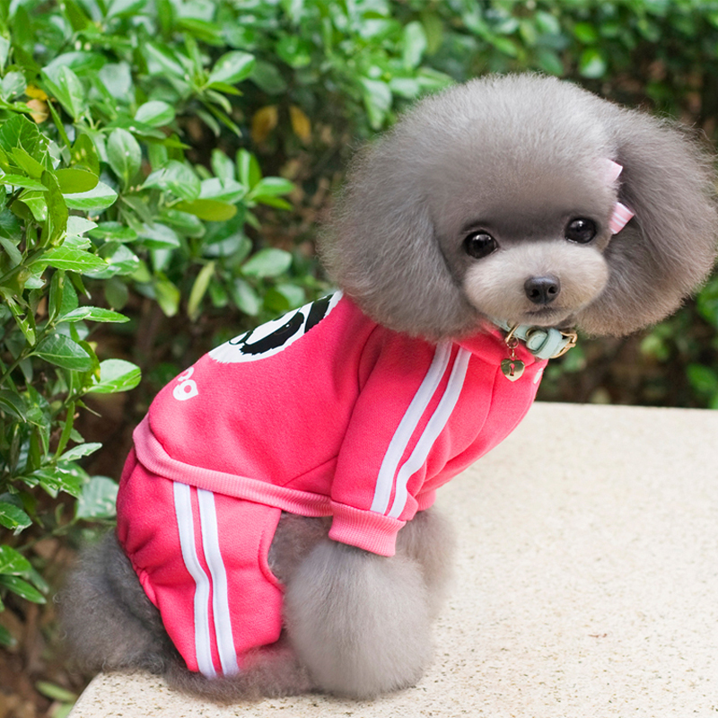 Autumn winter Pet Sports Sweater Dog Clothes Coat Hoodies Clothing for Chihuahua XS-XXL
