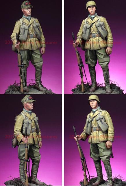 Resina Kits 1/16 escala 1/16 segunda guerra mundial Deutsche Afrika Grenadier soldados resina modelo DIY brinquedos