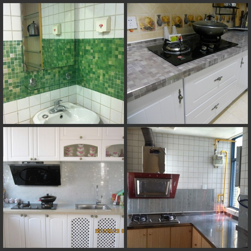 45cm Wide High Temperature Anti Smoke Kitchen Foil Stickers Waterproof  Mosaic Tiled Bathroom Toilet Stickers Affixed To In Wall Stickers From Home  U0026 Garden ...