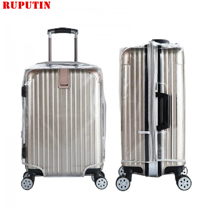 RUPUTIN Hot PVC Waterproof Suitcase Protective Cover High Quality Travel Luggage Dust Cover Trolley Case Thicker Wear Dust Cover
