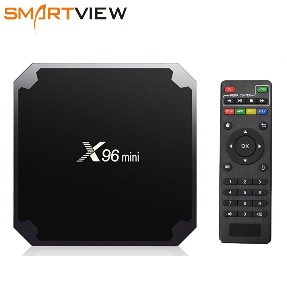 X96 mini Android 7.1 Smart TV BOX 2 gb/16 gb TVBOX X 96 mini Amlogic S905W H.265 4 karat 2,4 ghz WiFi Media-Player Set-Top Box X96mini