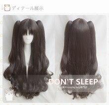 IMCOSER  Fate Stay Night Tohsaka Rin Cos Wig Black Grey Brown Wave Long 80cm Base 65cm Ponytail beautiful  Hair