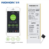 NOHON 5GS 3 8V For IPhone 5S Recyclable Li Ion Battery Replacement Real 1700mAh Large Capacity