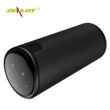 Zealot S8 Bluetooth Speaker Hifi Column+Carry Bag Touch Control Support SD Card Stereo Outdoor Portable Wireless Speaker(China)